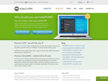 hideipvpn.com Screenshot